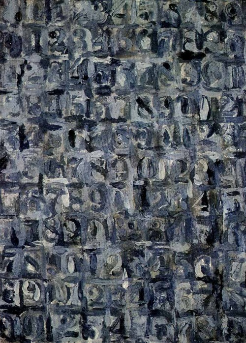 Jasper Johns - Gray NumbersJasper Johns Numbers White