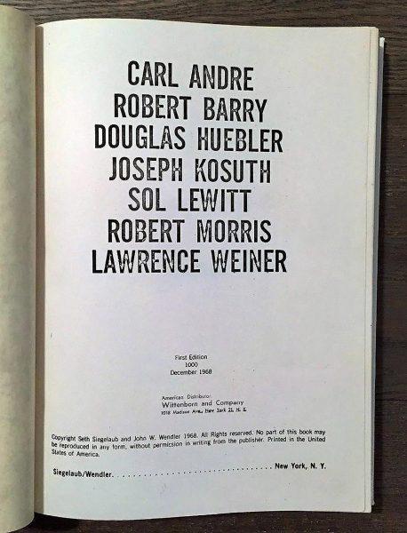 1968 - Sieglaub & Wendler - Xerox Book - Boek