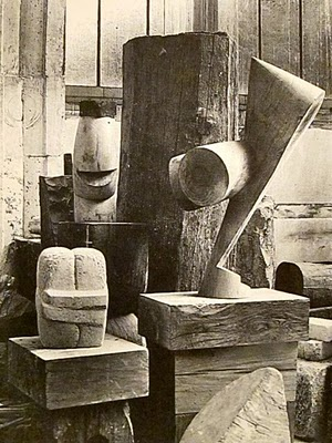 Brancusi  - The Kiss & The Chief & The Sorceress - 1925