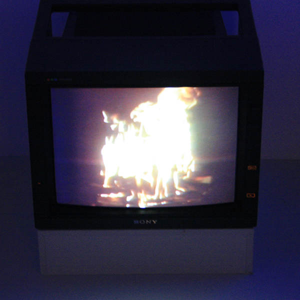 Jan Dibbets - TV as a Fireplace - 23,48minuten, Video 1969